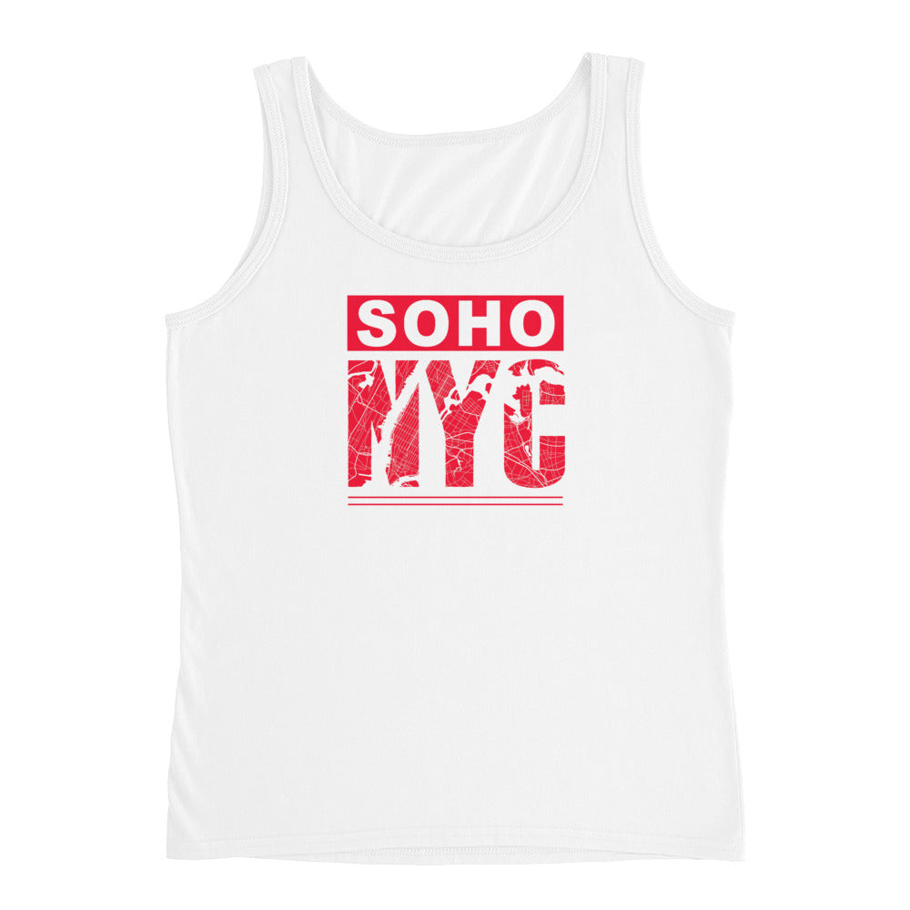 Women SoHo NYC Road Map Graphix Tank Top