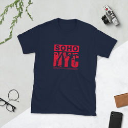 Women SoHo NYC Road Map Graphix T-Shirt