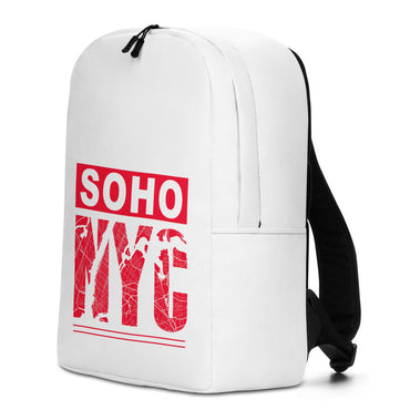 "Minimalist Backpack With ""SoHo NYC Map Grafix"""