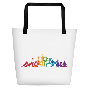 "Beach Bag With ""Yoga Multiple Pose Graphix"""