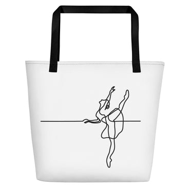 "Beach Bag With ""Dance Barre Work Graphix"""