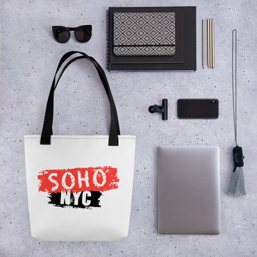 "Tote Bag With ""SoHo NYC Brush Graphix"""