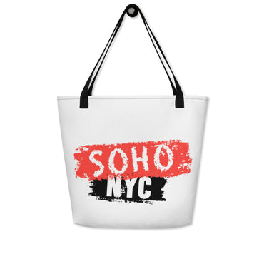 "Beach Bag With ""SoHo NYC Brush Graphix"""