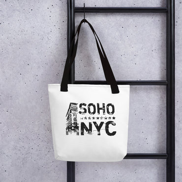 "Tote Bag With ""SoHoNYC Vintage Graphix"""