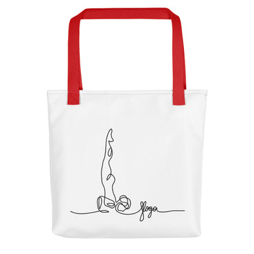 "Tote Bag With ""Yoga Shoulder StandGraphix"""