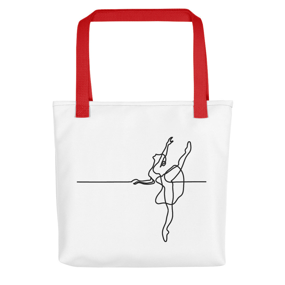 "Tote Bag With ""Dance Barre Work Graphix"""