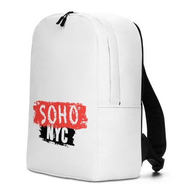 "Minimalist Backpack With ""SoHo NYC Brush Grafix"""