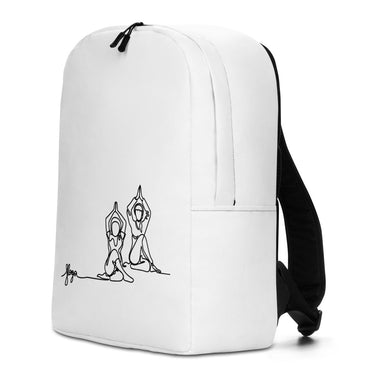 "Minimalist Backpack With ""Yoga Sitting Grafix"""