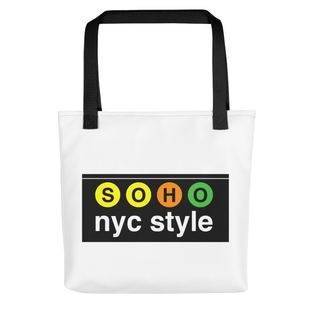 "Tote Bag With ""SoHo NYC Logo Graphix"""