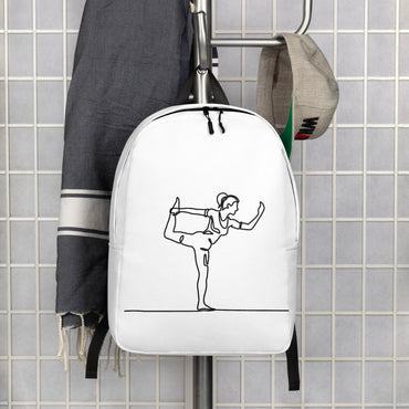"Minimalist Backpack With ""Yoga One Leg Stand Grafix"""