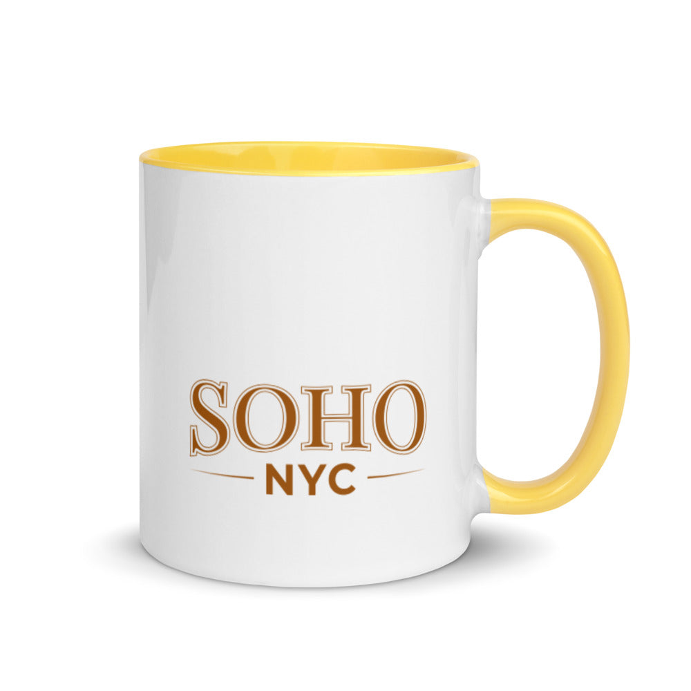 "Coffe Cup With Color Lip And ""SoHo NYC Classic Grafix"""