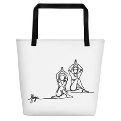 "Beach Bag With ""Yoga Sitting Pose Graphix"""