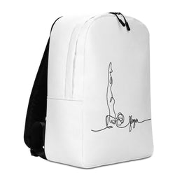 "Minimalist Backpack With ""Yoga Shoulder Stand Grafix"""