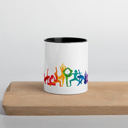 "Coffe Cup With Color Lip And ""Yoga Multiple Pose Graphix"""""