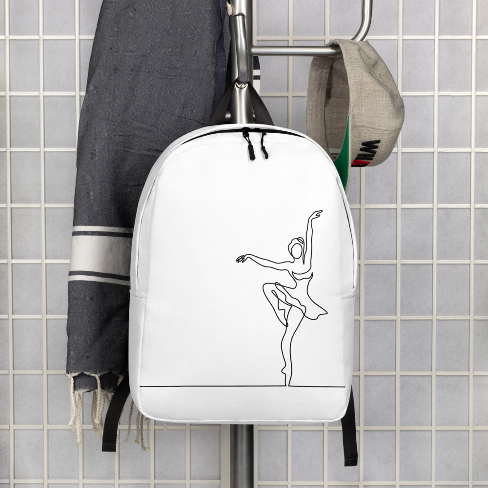 "Minimalist Backpack With ""Pique Dance Pose Grafix"""