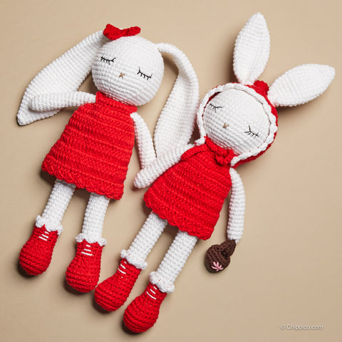 Chippi & Co. Bunny toy bunny doll Valentine gift, gift for couple
