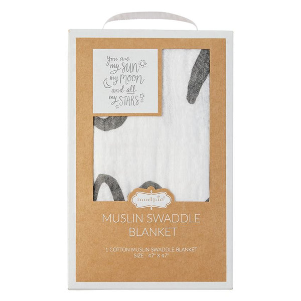 Muslin Moon and Stars Swaddle