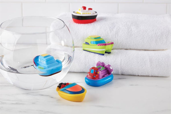 Boat Friends Bath Squirt Toy Set