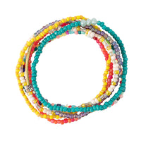 Multi-Colored Seed Bead Stackable Bracelet Set