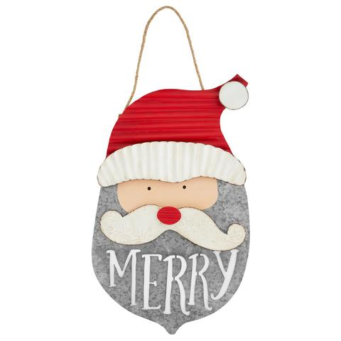 Santa Tin Door Hanger