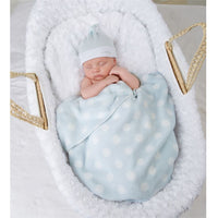 Blue Blanket and Hat Set