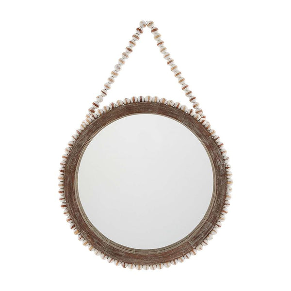 Large Beaded Wall Mirror
