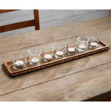 Beaded Wood Votive Tray