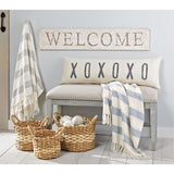 XOXO Washed Canvas Long Pillow