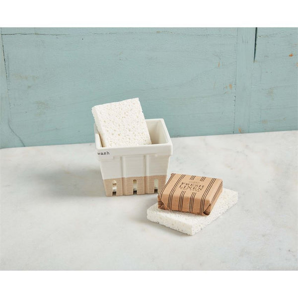 Wash Soap & Sponge Basket Set