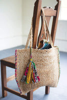 Braided Jute Beach Bag