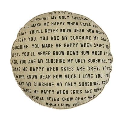 You Are My Sunshine Floor Pouf