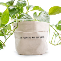 Tiny Flowers Are Dreaming Canvas Planter