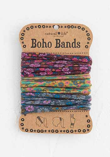 Purple Mustard Charcoal Boho Bands
