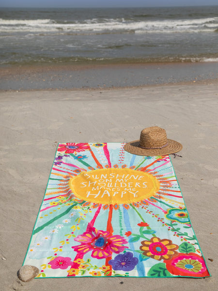 Microfiber Beach Yoga Towel, Sunshine