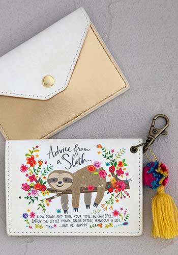 Advice From A Sloth Card Holder