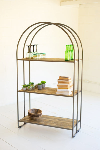 Recycled Wood Shelving Unit