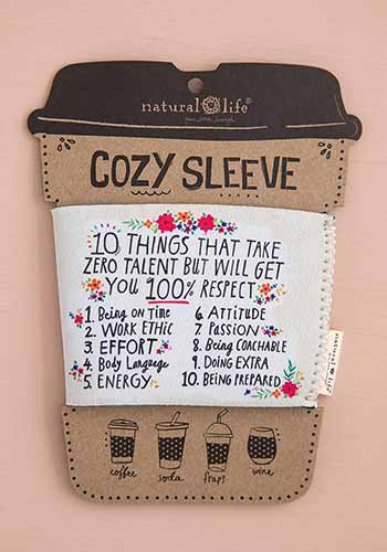 10 Things Cozy Sleeve