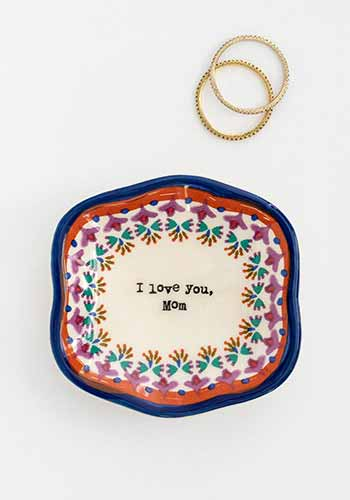 I Love You Mom Mini Artisan Trinket Dish