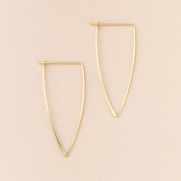 Gold Vermeil Galaxy Triangle Earrings