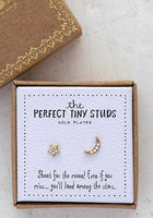 Star & Moon Perfect Tiny Stud Earrings