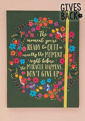 Don't Give Up Journal