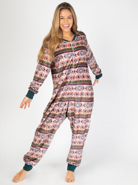 Light Pink Fleece Adult Onesie