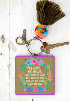 Be Happy Because Chirp Keychain