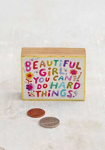 Beautiful Girl Tiny Keepsake Block