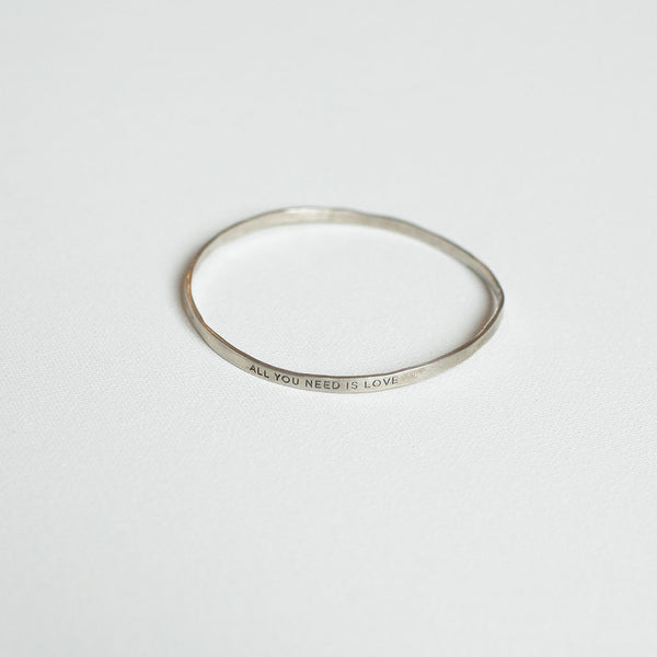 All You Need Is Love Silver Bangle