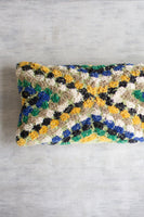 Green, Blue, Yellow Lumbar Pillow