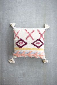 Blush Tufted Pillow