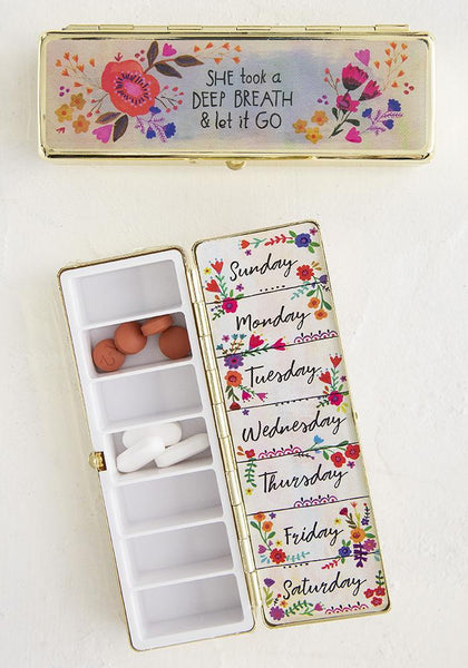 Let It Go Daily Pill Box