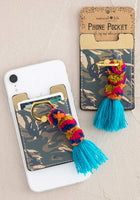 Camo Tassle Phone Pocket Ring