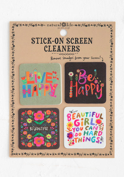 Stick-On Screen Cleaner Set of 4